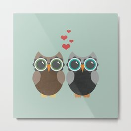 OWL LOVE YOU FOREVER Metal Print