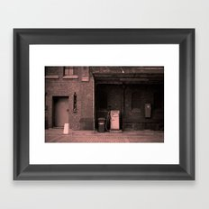 the old service station Framed Art Print