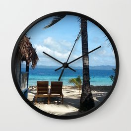 Wish You Were Here Wall Clock