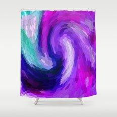 lilic swirl Shower Curtain