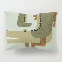 Whimsy Crocodile Pillow Sham