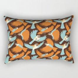 Chickadees in Brown Rectangular Pillow