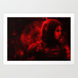 The Winter Soldier (Bucky Barnes) Hydra Print Art Print