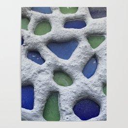 Sea Glass Mosaic Detail Poster