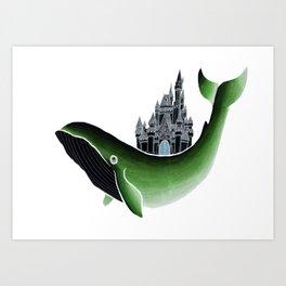 Whale Castle Art Print