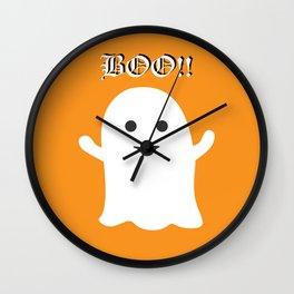 Halloween Happy Ghost Wall Clock