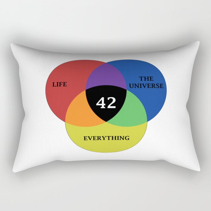 42 is the answer Rectangular Pillow