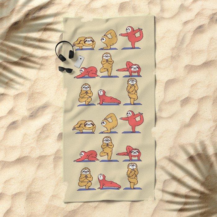 Sloth Yoga Beach Towel