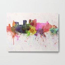 Birmingham AL skyline in watercolor background Metal Print