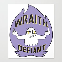 Wraith Defiant decal Canvas Print