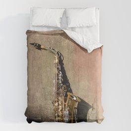 New Orleans French Quarter Saxophone Comforters