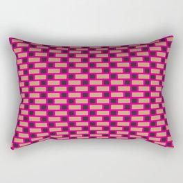 Brick (Pink, Brown, and Black) Rectangular Pillow