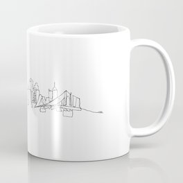 Pittsburgh Skyline Drawing Coffee Mug