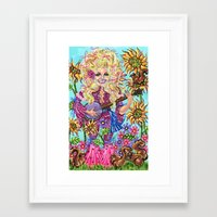 dolly parton Framed Art Prints featuring Dolly Parton. by Eliza Brown Art