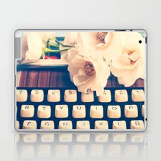 Typewriter and roses  Laptop & iPad Skin