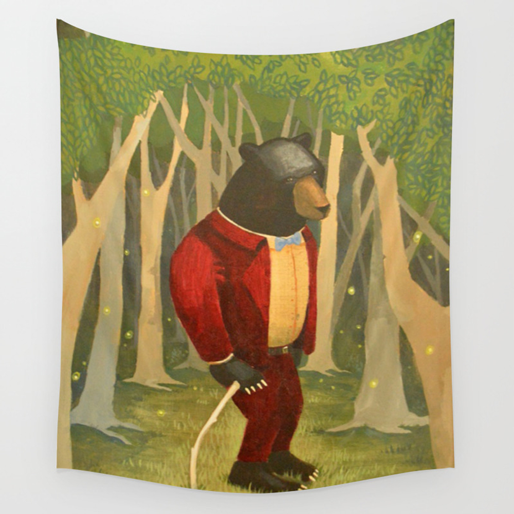 Sharp Dressed Bear Wall Tapestry by Laceyloo TPS7275761