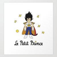 le petit prince Art Prints featuring Le Petit Prince by Aldo Cervantes Saldaña