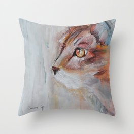 Le chat (the cat) Throw Pillow