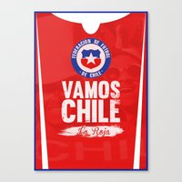 chile Canvas Prints featuring Chile by liamhohoho