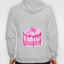 Berry cake with meringues and a horn Hoody