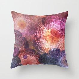 Fractal Corsage Throw Pillow