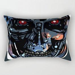 Terminator Head 2 Rectangular Pillow