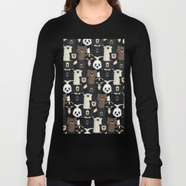 Bears of the world pattern Long Sleeve T-shirt