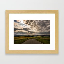 Road to nowhere (HighRes) Framed Art Print