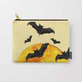 BLACK FLYING BATS FULL MOON ART Carry-All Pouch