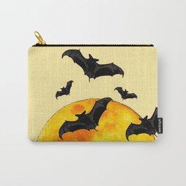BLACK FLYING BATS FULL MOON ART Carry-All Pouch