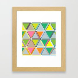 Triangles to the Third Degree Framed Art Print