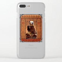 Baloo - Rudyard Kipling Jungle Book Clear iPhone Case