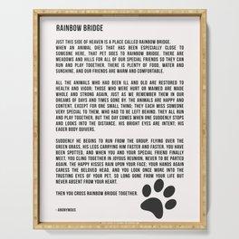 Rainbow Bridge Poem #inspirational #pet #love Serving Tray