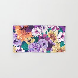 Colorfu summer flowers collage pattern Hand & Bath Towel