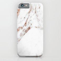 Rose gold foil marble iPhone 6 Slim Case