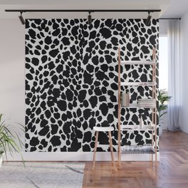 Animal Print Cheetah Black and White Pattern #4 Wall Mural