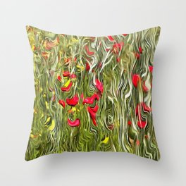 Poisoned Poppies Throw Pillow