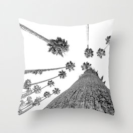 {2 of 2} Hug a Palm Tree // Tropical Summer Black and White Sky Art Print Throw Pillow
