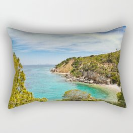 A small beach on the north side of Spetses island, Greece Rectangular Pillow