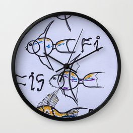 f..fi...fis....fish Wall Clock