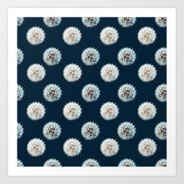 Dandelion Clocks Polka Art Print