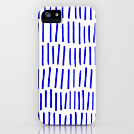 Blue Scandi Paint Print iPhone Case