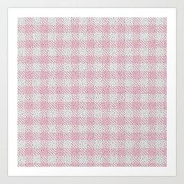 Light Pink Buffalo Plaid Art Print