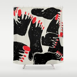 Feet Shower Curtain