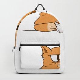 Funny grumpy Coffee Cat Backpack