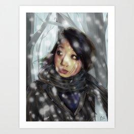 Paulina in a Blizzard Art Print
