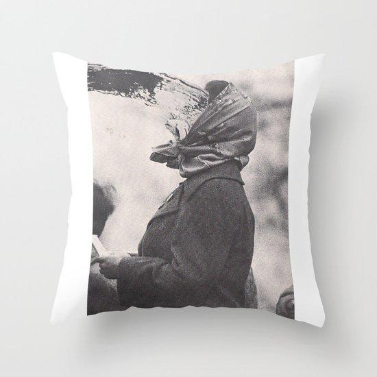 Human Water Fountain Throw Pillow