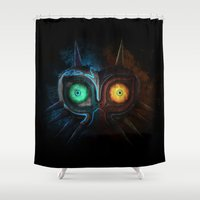 majora Shower Curtains featuring Majora Mask  by DavinciArt