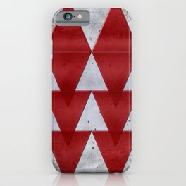 Triangles on grunge iPhone Case