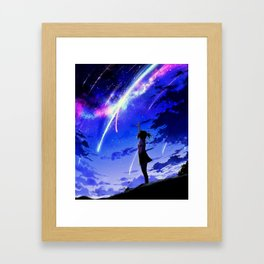 "Kimi No Na Wa ""Your Name"" v1 Framed Art Print"